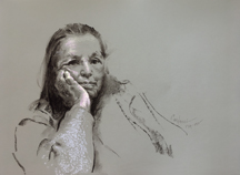 Judith Carducci pastel and charcoalportrait drawings