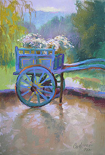 The Little Blue Donkey Cart